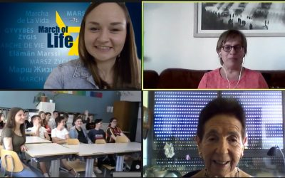 Zoom-Meeting with Holocaust survivors and students